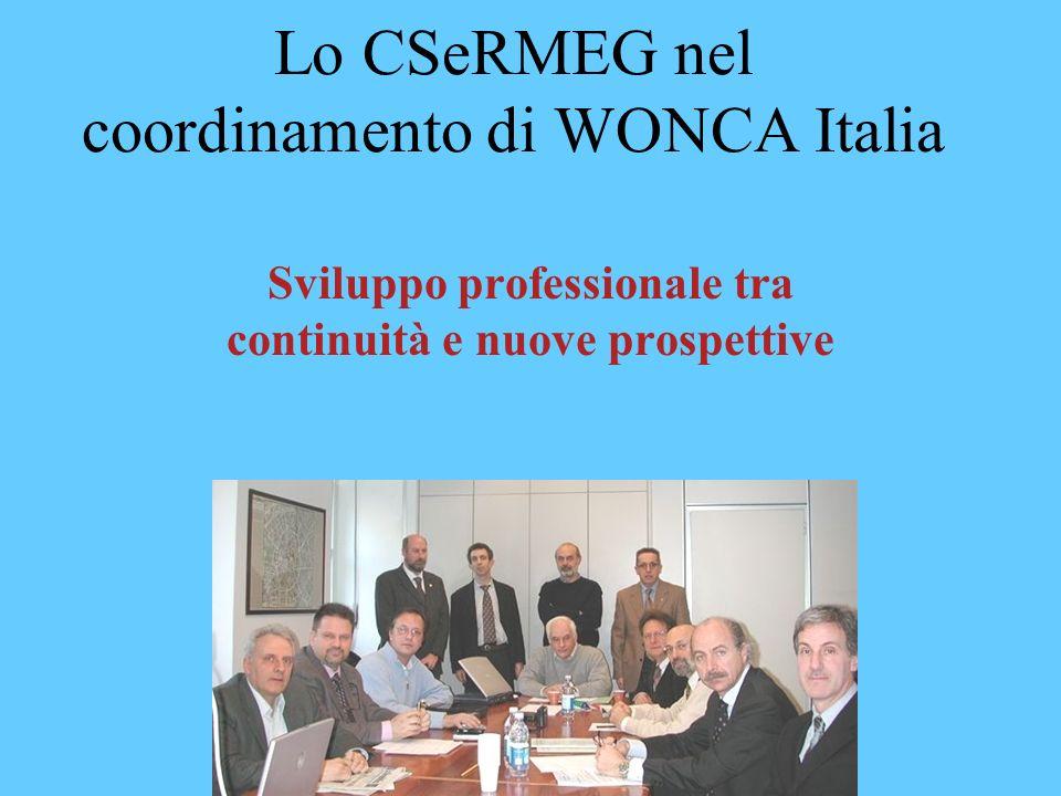 Lo CSeRMEG nel coordinamento di WONCA Italia Sviluppo professionale tra continuità e nuove prospettive