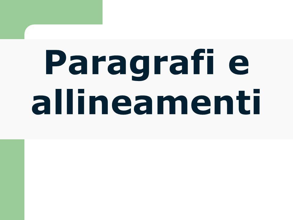 Esiste anche un tag che permette di definire un paragrafo di testo preformattato.
