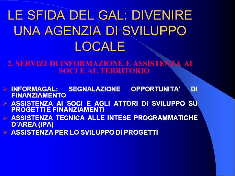 LE SFIDA DEL GAL: DIVENIRE UNA AGENZIA DI SVILUPPO LOCALE 2.