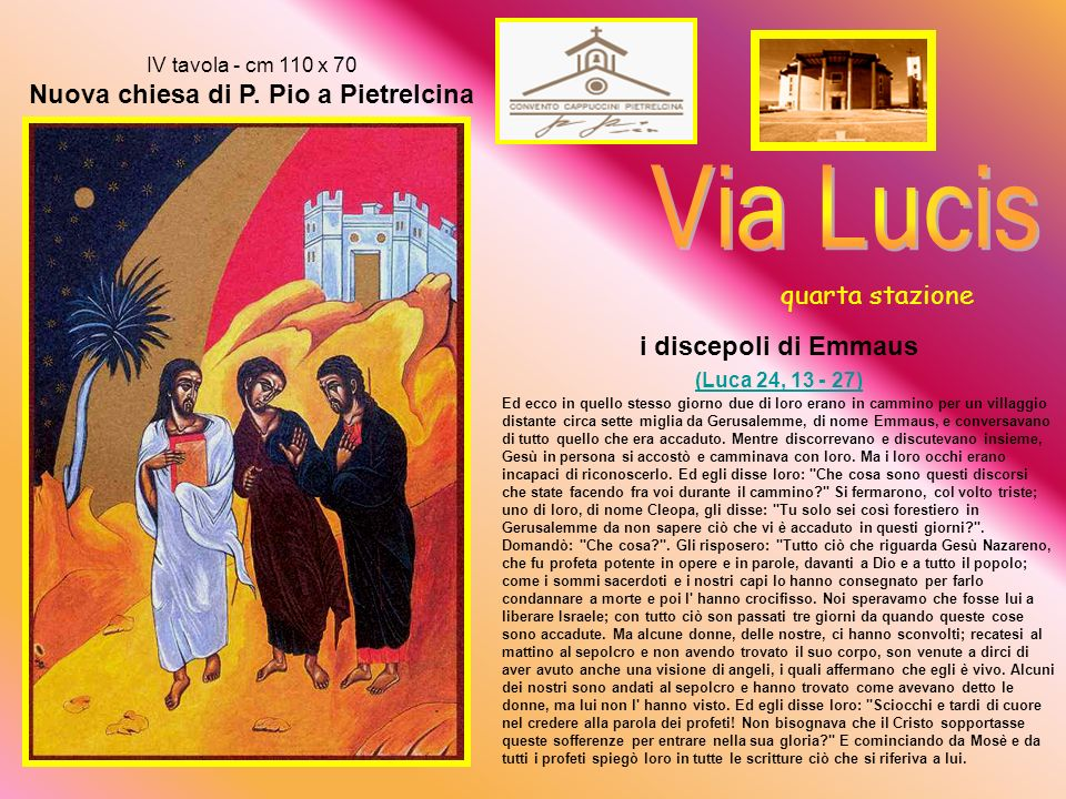 IV tavola - cm 110 x 70 Nuova chiesa di P.