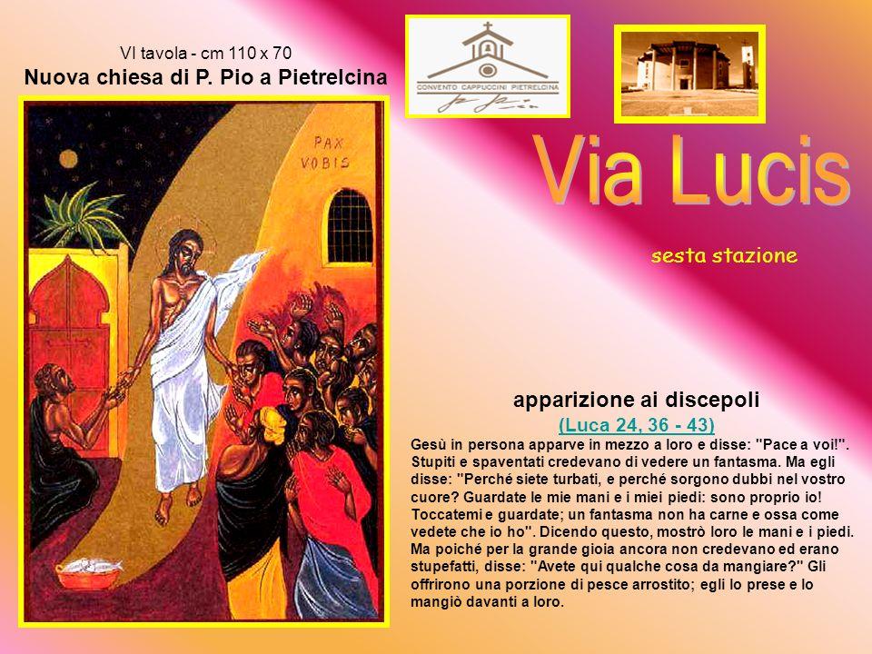 V tavola - cm 110 x 70 Nuova chiesa di P.