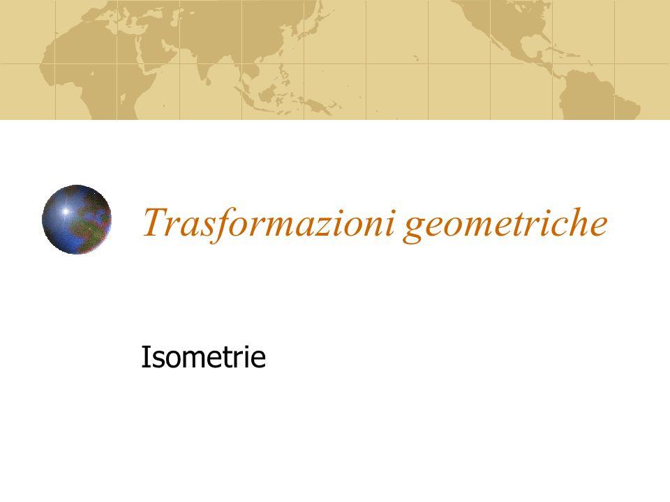 Trasformazioni geometriche Isometrie