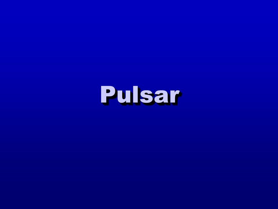Pulsar appena nata Una pulsar appena nata ha un campo magnetico elevato e un periodo di spin relativamente breve 1000 yr death line Hubble time