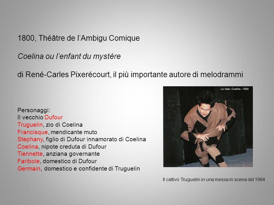 Il melodramma e il linguaggio muto il ruolo muto estremo: lanimale testimone, il linguaggio dei segni 1814, Pixerécourt Le chien de Montargis (Il cane di Montargis)