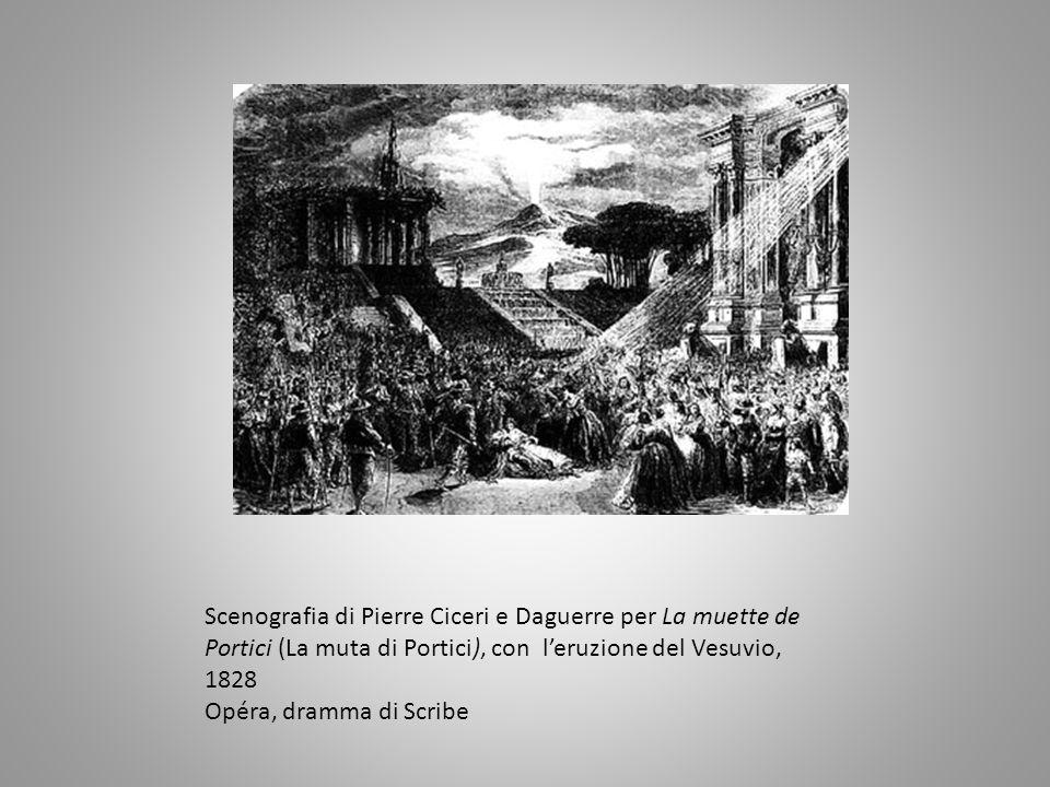 P. Charles Ciceri, tomba fra rovine, scena per Robert le diable (Roberto il diavolo)