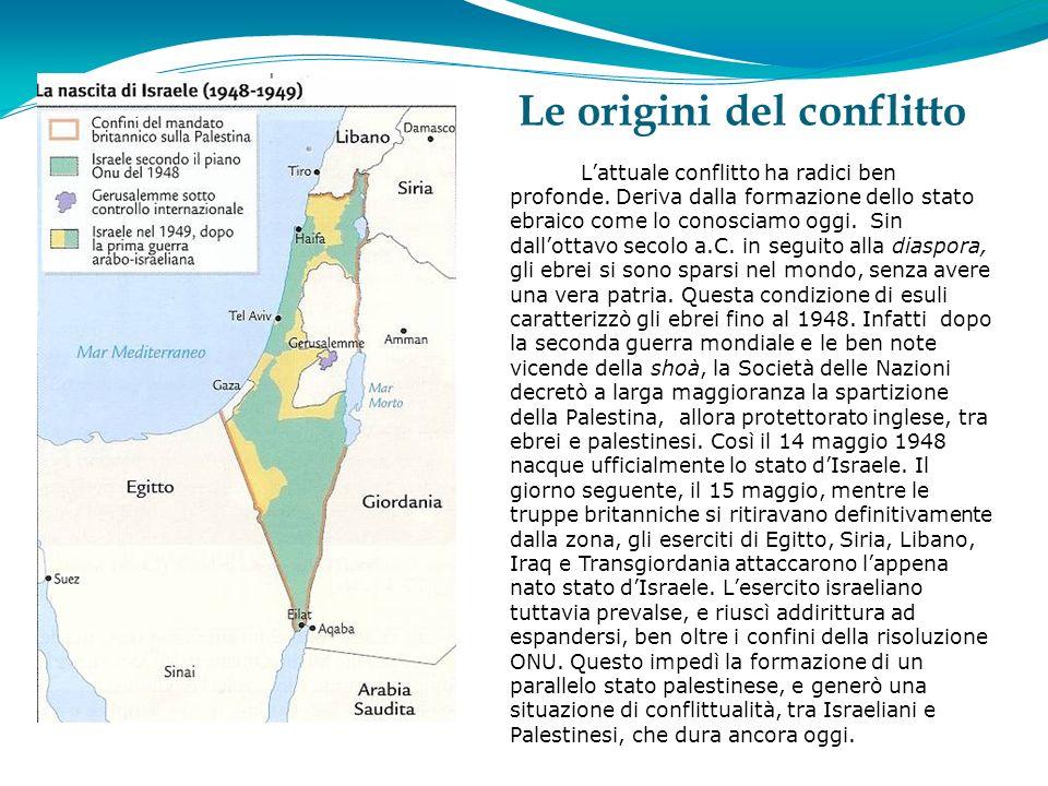 Le origini del conflitto Lattuale conflitto ha radici ben profonde.