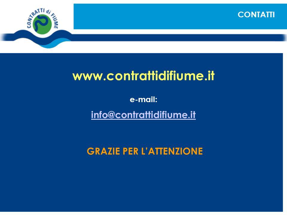 www.contrattidifiume.it e-mail: info@contrattidifiume.it GRAZIE PER LATTENZIONE CONTATTI
