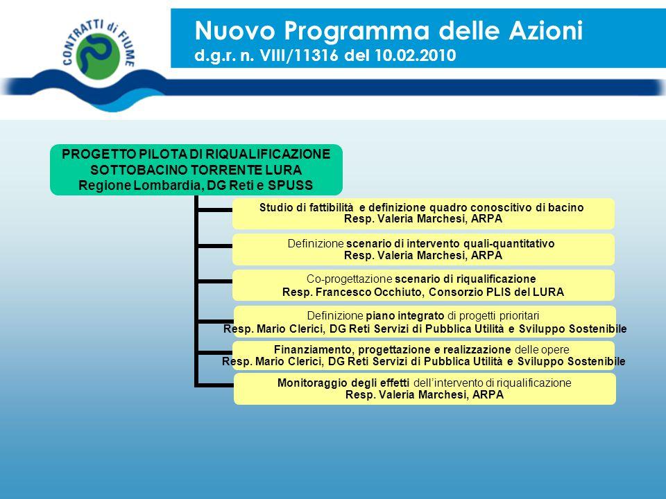 Nuovo Programma delle Azioni d.g.r. n. VIII/11316 del 10.02.2010