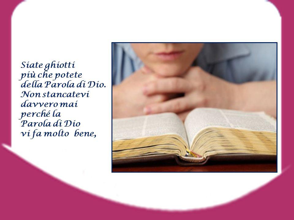 Il Signore ne suoi libri sacri, ci indirizza sue lettere e ci parla cuore a cuore, come padre a figlio.