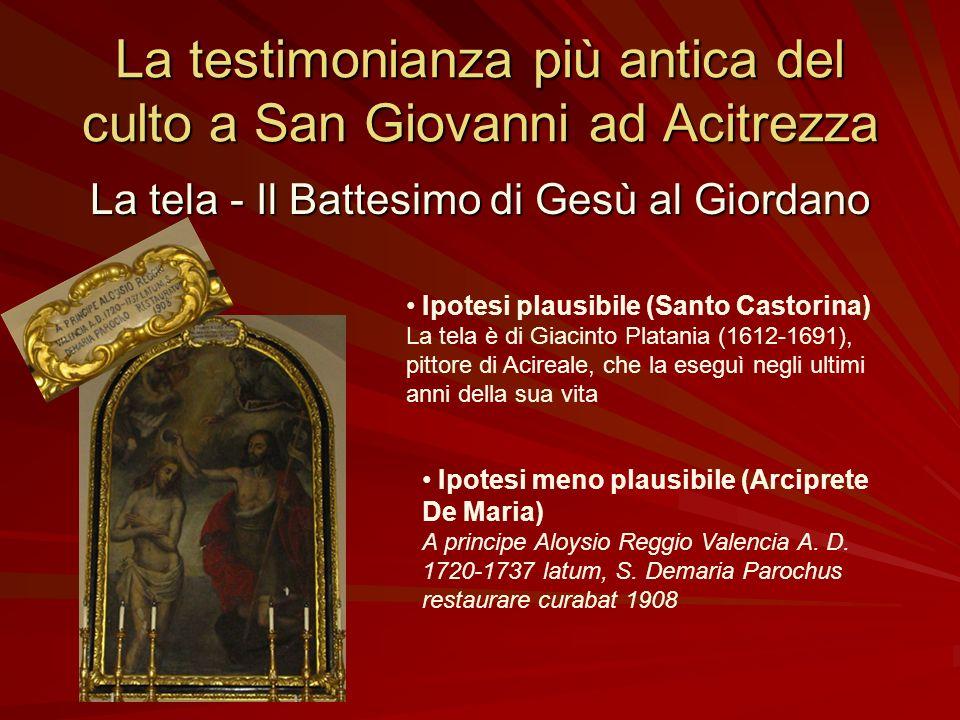 Da dove è arrivato ad Acitrezza il culto a San Giovanni Battista? Ipotesi plausibile (Filippo Pulvirenti – Giovanni Mammino) Dallantica Aci (presso la