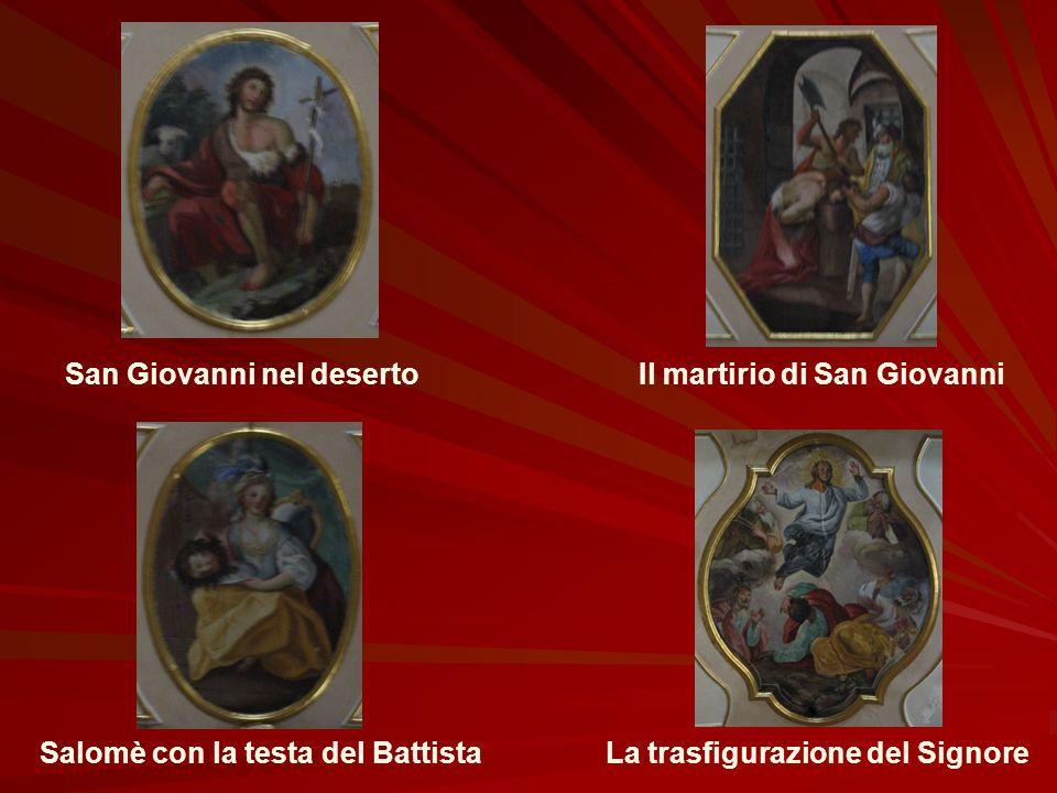 Gli affreschi di Vincenzo Sciuto Risalenti alla seconda metà del settecento Raffigurano: La visita di Maria a Santa Elisabetta La nascita del Battista