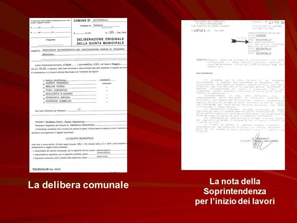 I documenti La petizione La richiesta di contributo al Comune di Acicastello
