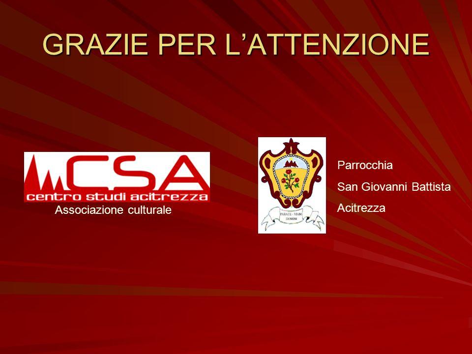 Ringraziamenti Don Giovanni Mammino Antonio Castorina Mario Grasso Dino Finocchiaro Antonio Guarnera Giovanni Grasso Per le realizzazioni dei filmati