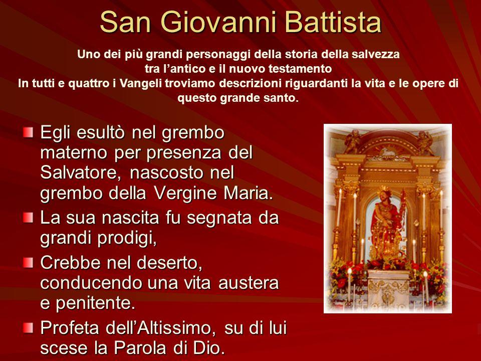 Le origini del culto a San Giovanni Battista Don Giovanni Mammino