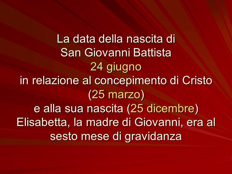 San Giovanni Battista Oltre alla celebrazione del giorno del martirio (29 agosto), come avviene normalmente per tutti i santi, solo di San Giovanni Ba