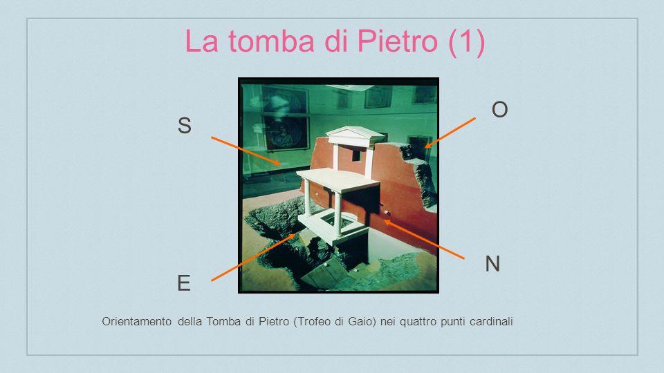 La tomba di Pietro (1) S O N E Orientamento della Tomba di Pietro (Trofeo di Gaio) nei quattro punti cardinali