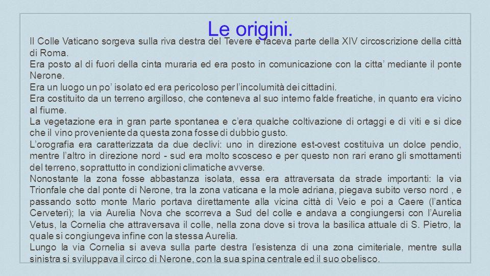 Le origini.