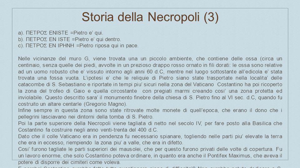 Storia della Necropoli (4)