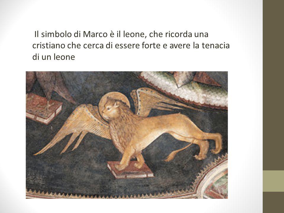 Il simbolo di Luca è il bue; simbolo di sacrificio, ricorda il sacrificio di Dio che fece per i cristiani