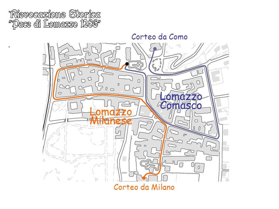 . Lomazzo Comasco Lomazzo Milanese Corteo da Milano Corteo da Como
