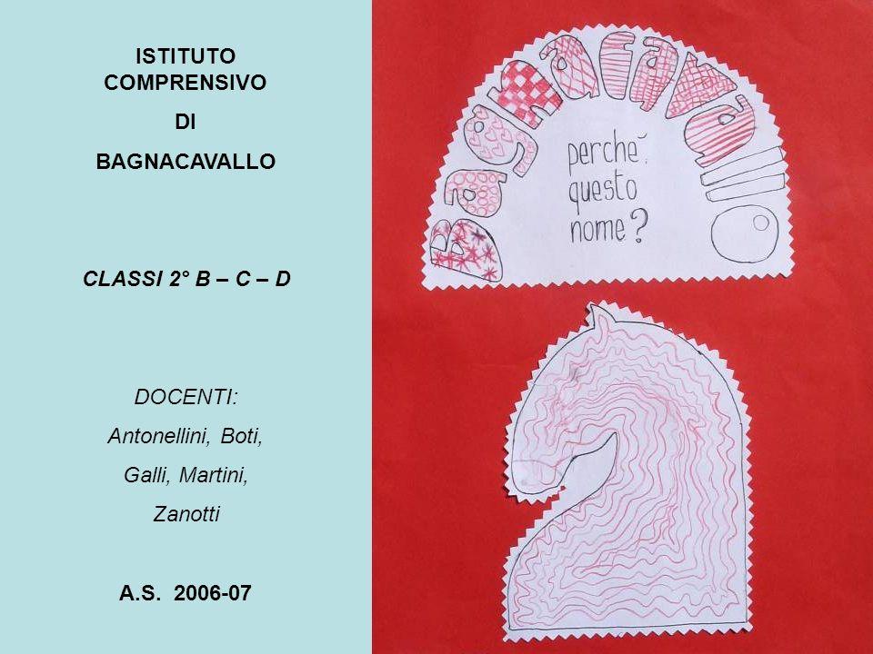 BAGNACAVALLO: I LUOGHI DEI CAVALLI 1 LEGENDA Scuola Primaria Berti Teatro Goldoni Sede municipale Torre civica Chiesa di S.