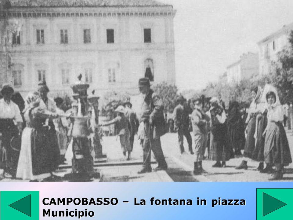 CAMPOBASSO – La fontana in piazza Municipio