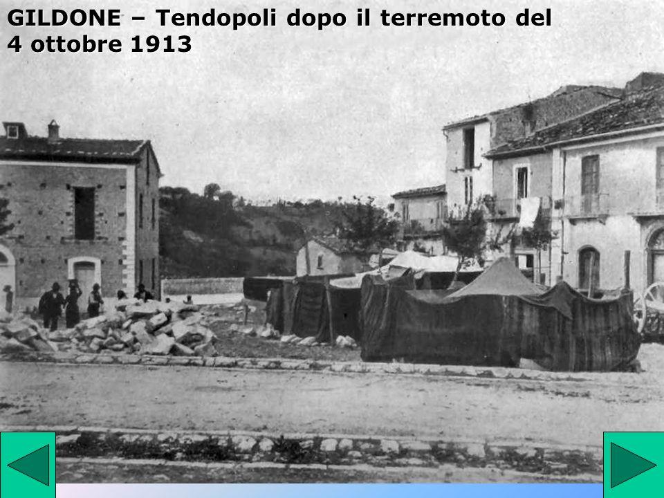 GILDONE – Tendopoli dopo il terremoto del 4 ottobre 1913