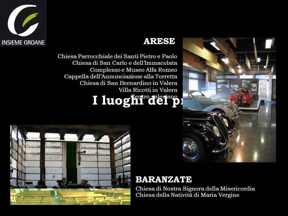 I luoghi del progetto: ARESE Chiesa Parrocchiale dei Santi Pietro e Paolo Chiesa di San Carlo e dellImmacolata Complesso e Museo Alfa Romeo Cappella d