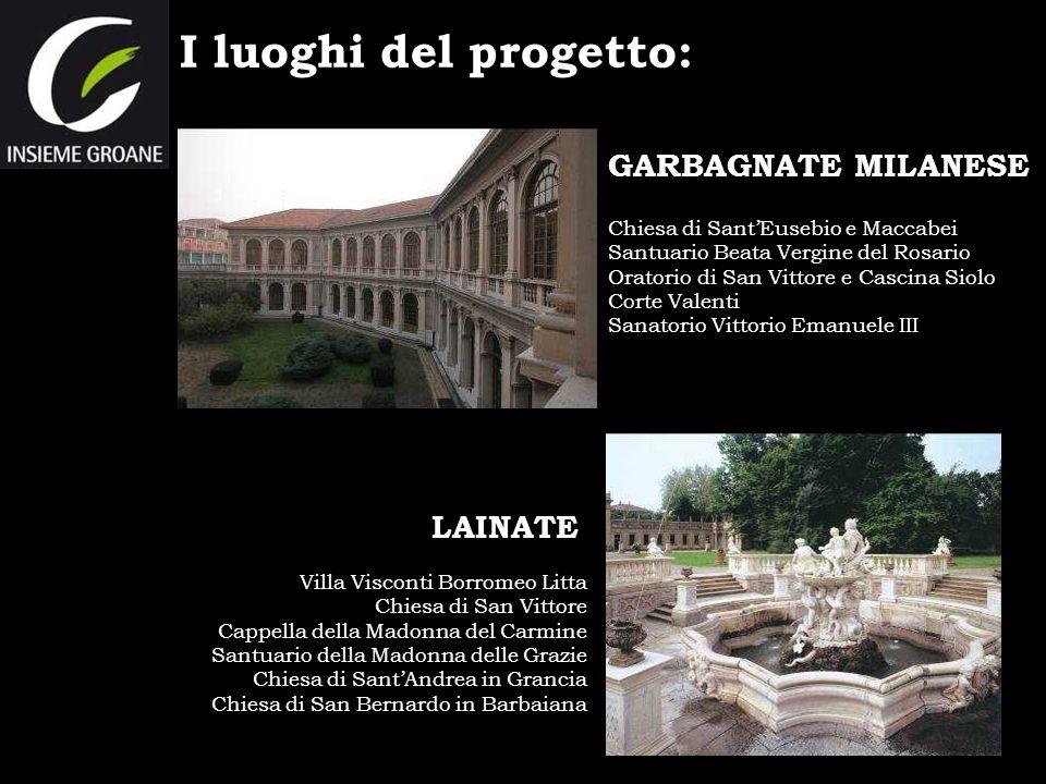 I luoghi del progetto: Chiesa di SantEusebio e Maccabei Santuario Beata Vergine del Rosario Oratorio di San Vittore e Cascina Siolo Corte Valenti Sana
