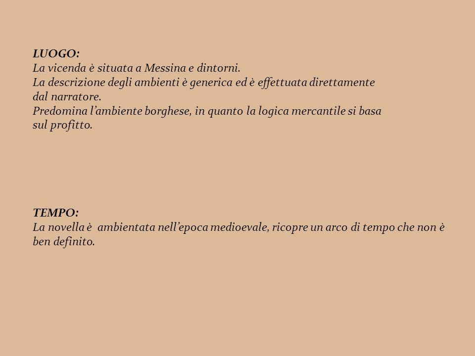 LUOGO: La vicenda è situata a Messina e dintorni.