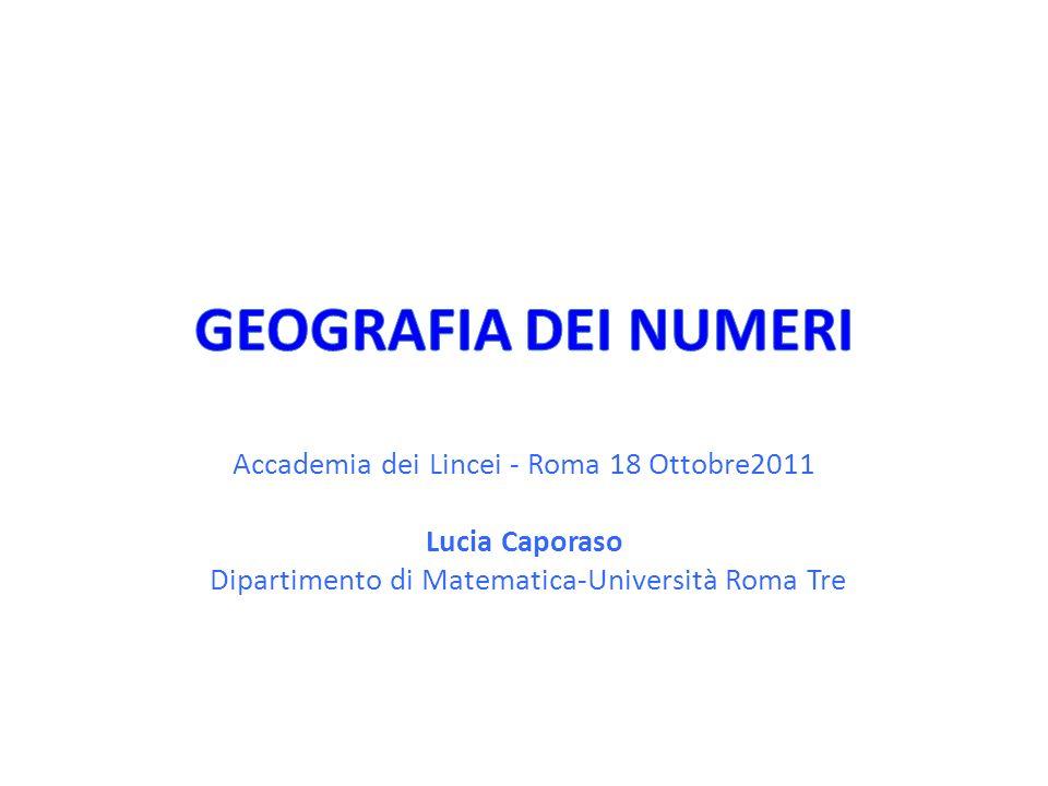 Accademia dei Lincei - Roma 18 Ottobre2011 Lucia Caporaso Dipartimento di Matematica-Università Roma Tre