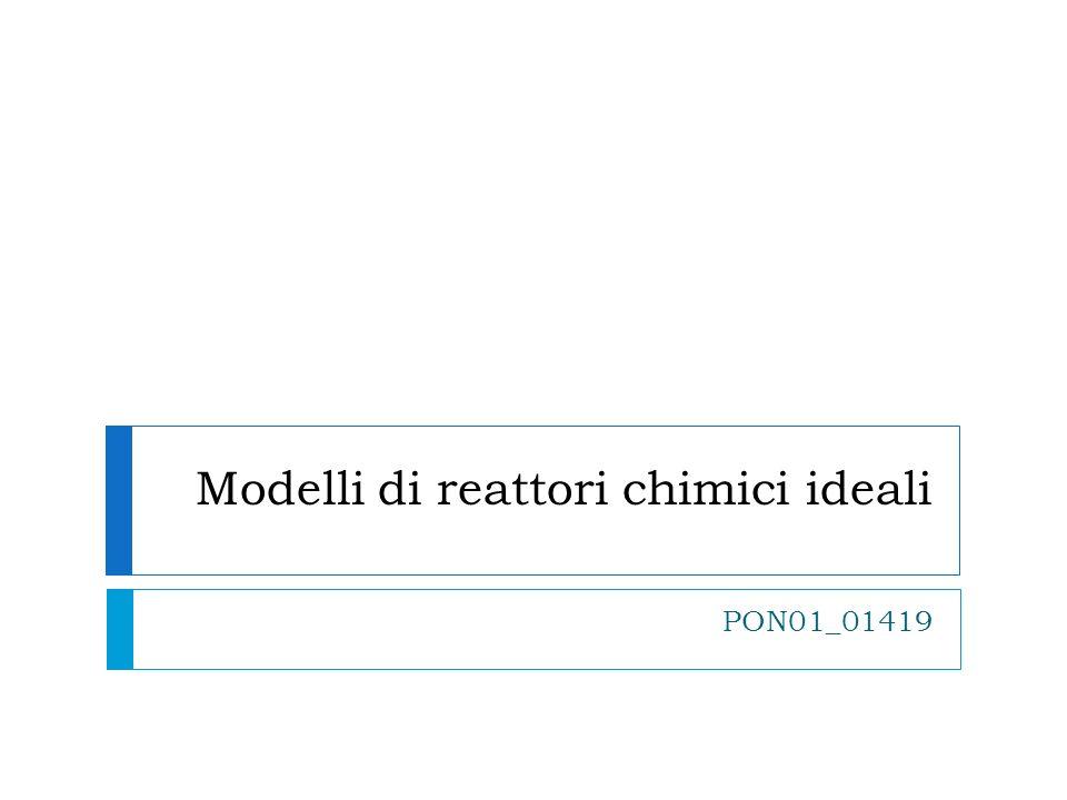 BATCH isotermo a volume costante (2) Assumiamo per semplicità che il processo che si vuole modellare possa essere considerato isotermo (temperatura costante).