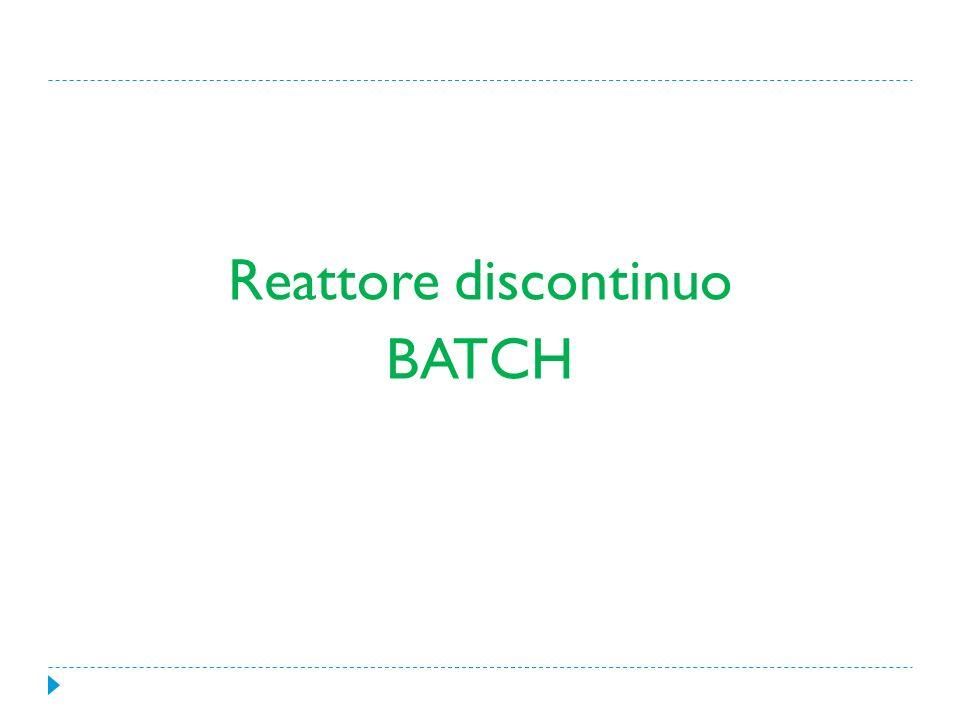 Reattore discontinuo BATCH