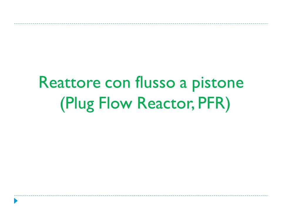 Reattore con flusso a pistone (Plug Flow Reactor, PFR)