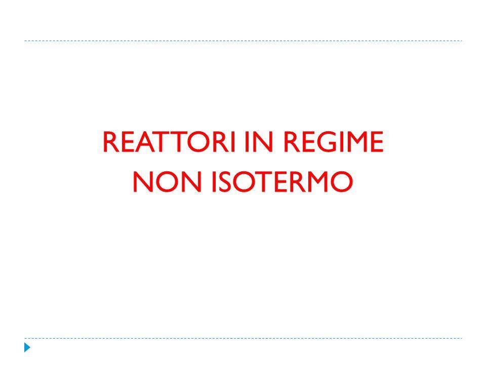 REATTORI IN REGIME NON ISOTERMO