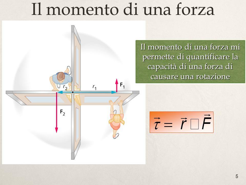 5 Il momento di una forza Il momento di una forza mi permette di quantificare la capacità di una forza di causare una rotazione