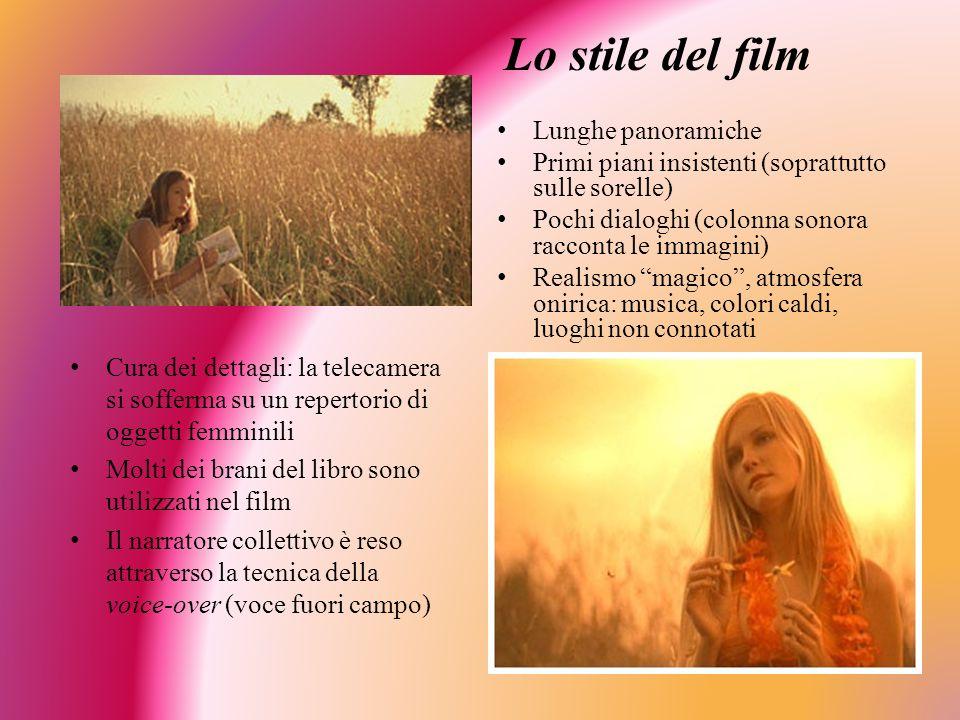 Lo stile del film Lunghe panoramiche Primi piani insistenti (soprattutto sulle sorelle) Pochi dialoghi (colonna sonora racconta le immagini) Realismo
