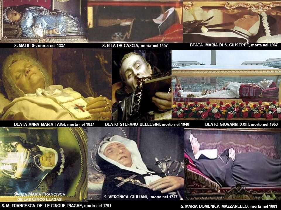 S.MATILDE, morta nel 1337 BEATA ANNA MARIA TAIGI, morta nel 1837 BEATA MARIA DI S.