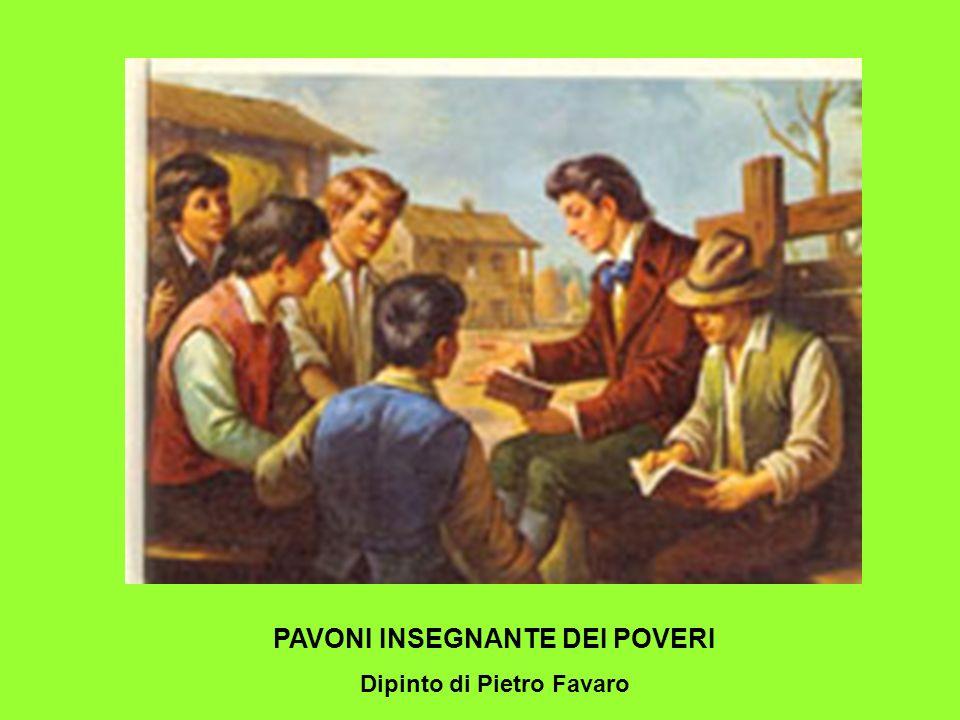 PAVONI INSEGNANTE DEI POVERI Dipinto di Pietro Favaro