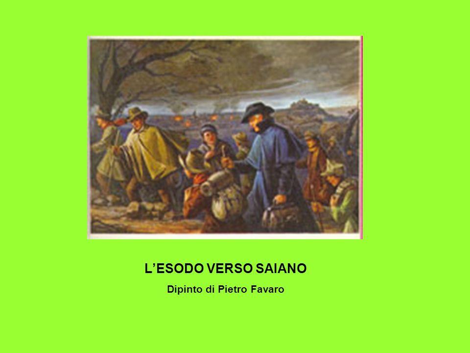 LESODO VERSO SAIANO Dipinto di Pietro Favaro