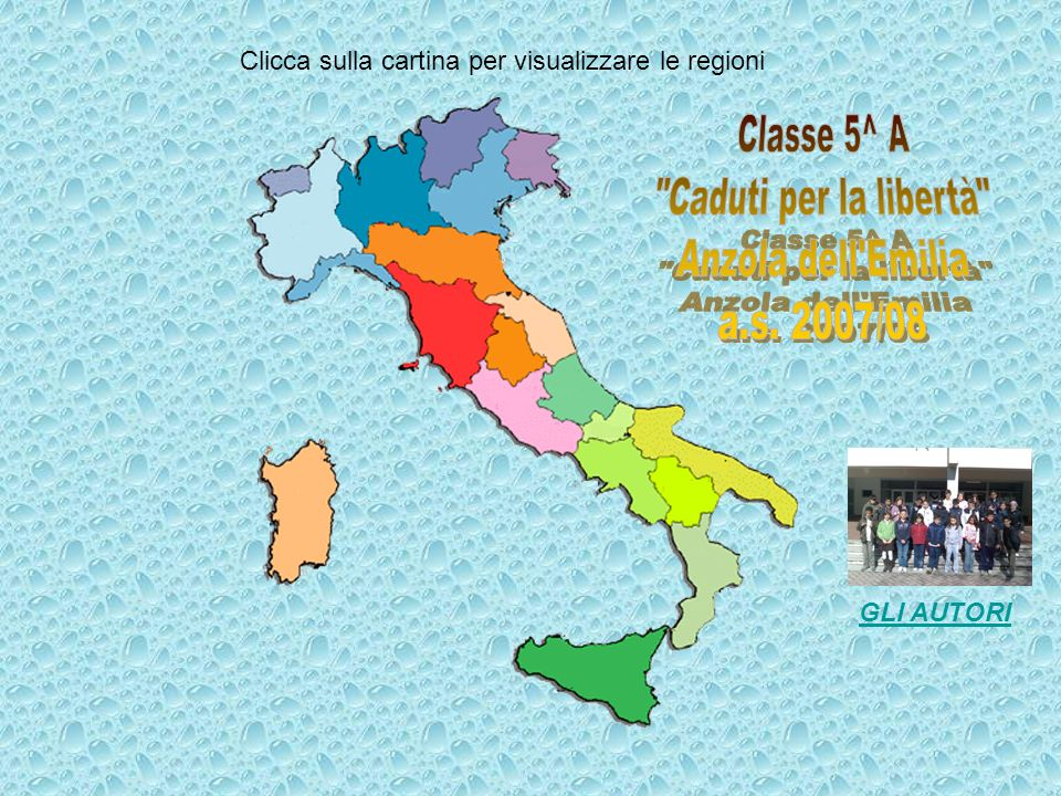 Clicca sulla cartina per visualizzare le regioni GLI AUTORI