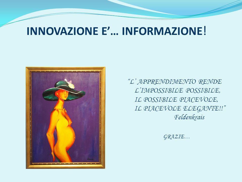 INNOVAZIONE E… INFORMAZIONE .