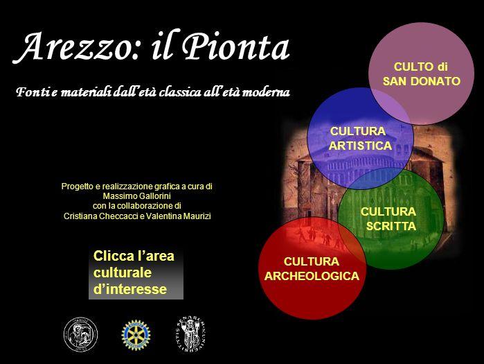 TAV. 86 Posizionamento dellarea del Pionta rispetto alla città attuale di Arezzo