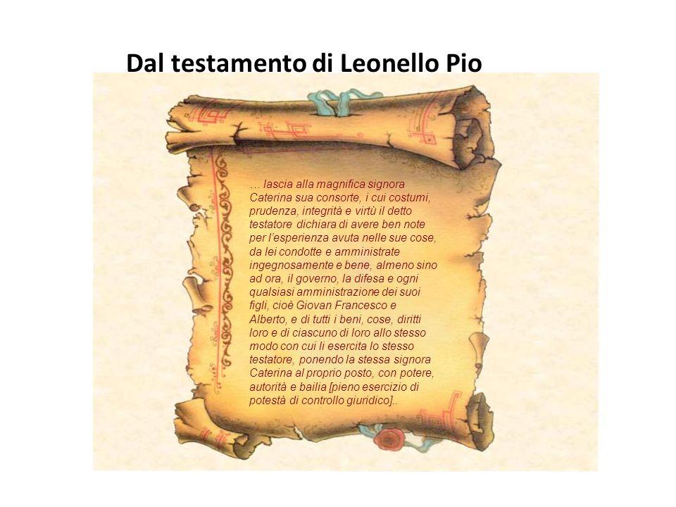 Caterina Pico (della Mirandola) Era figlia primogenita di sette fratelli (tra questi il più famoso fu Giovanni Pico della Mirandola, umanista e filoso