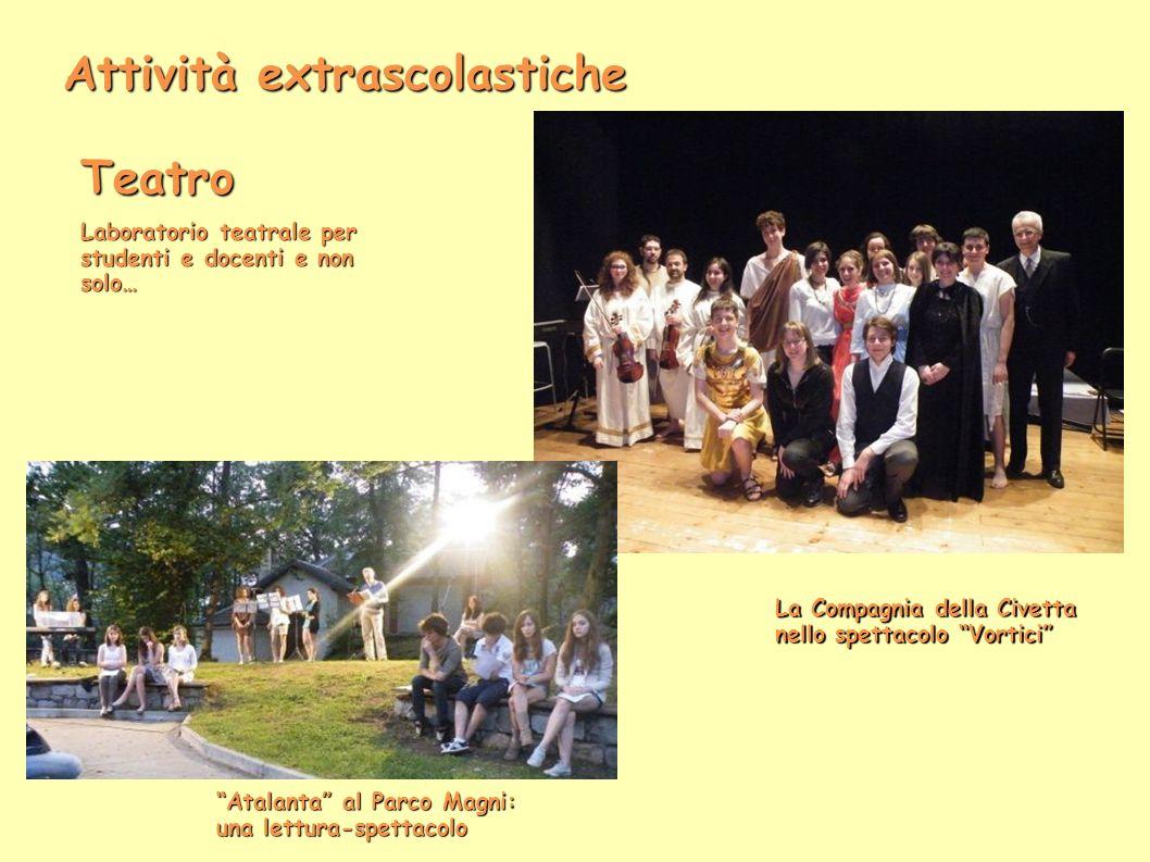 Attività extrascolastiche Teatro Laboratorio teatrale per studenti e docenti e non solo… La Compagnia della Civetta nello spettacolo Vortici Atalanta