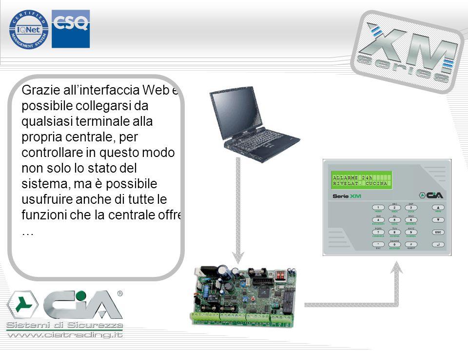 Grazie allinterfaccia Web è possibile collegarsi da qualsiasi terminale alla propria centrale, per controllare in questo modo non solo lo stato del sistema, ma è possibile usufruire anche di tutte le funzioni che la centrale offre …