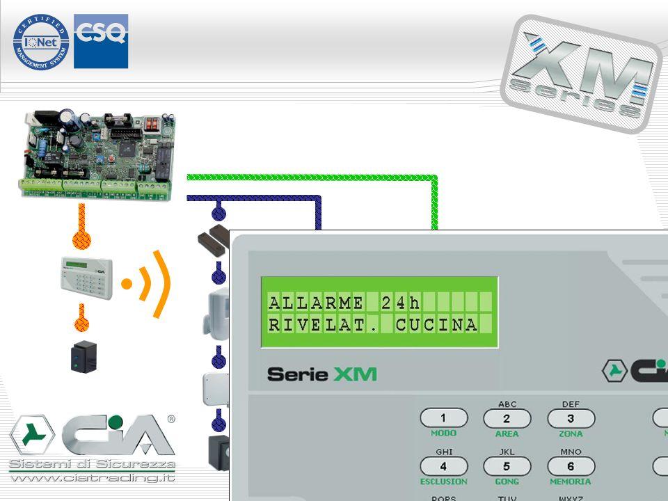 Infatti, quando lallarme scatta, è possibile sapere quale contatto, o rivelatore, ha generato lallarme, visualizzando la descrizione sulla consolle … INS/DIS