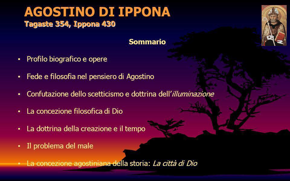 AGOSTINO DI IPPONA Tagaste 354, Ippona 430 Profilo biografico e opere Agostino è uno degli autori di testi teologici, mistici, filosofici, esegetici molto studiato e citato.