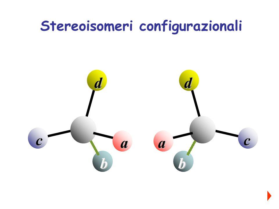 a b c d a b c d Stereoisomeri configurazionali