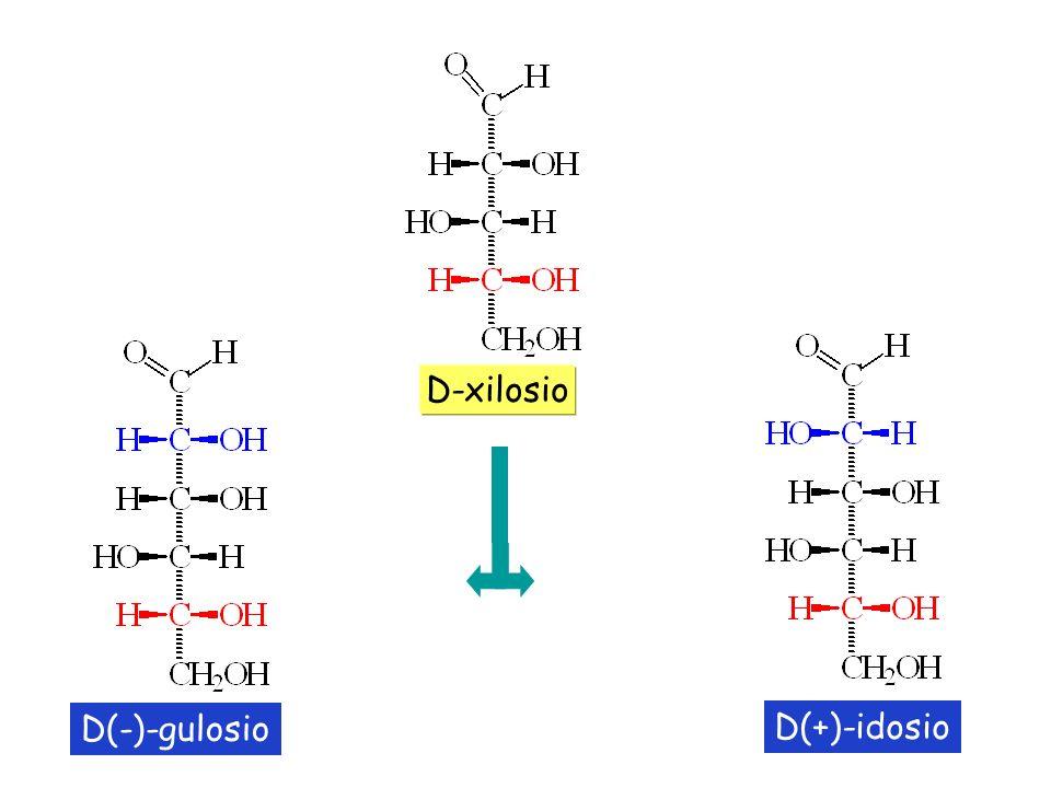 D(-)-gulosio D(+)-idosio D-xilosio